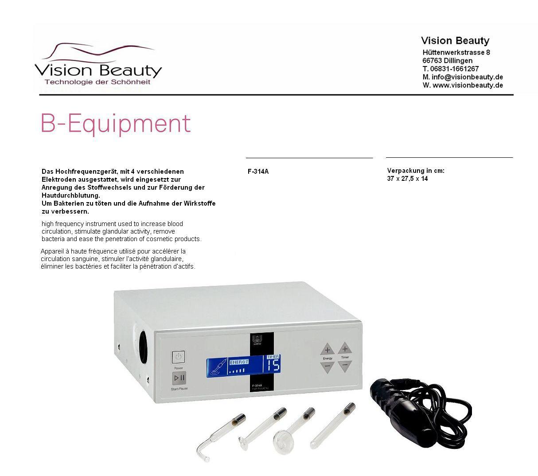hautdesinfektion elektrotherapie dermabrasion hf hochfrequenz ebay. Black Bedroom Furniture Sets. Home Design Ideas
